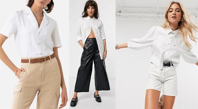Comprar online camisa blanca. Prendas básicas