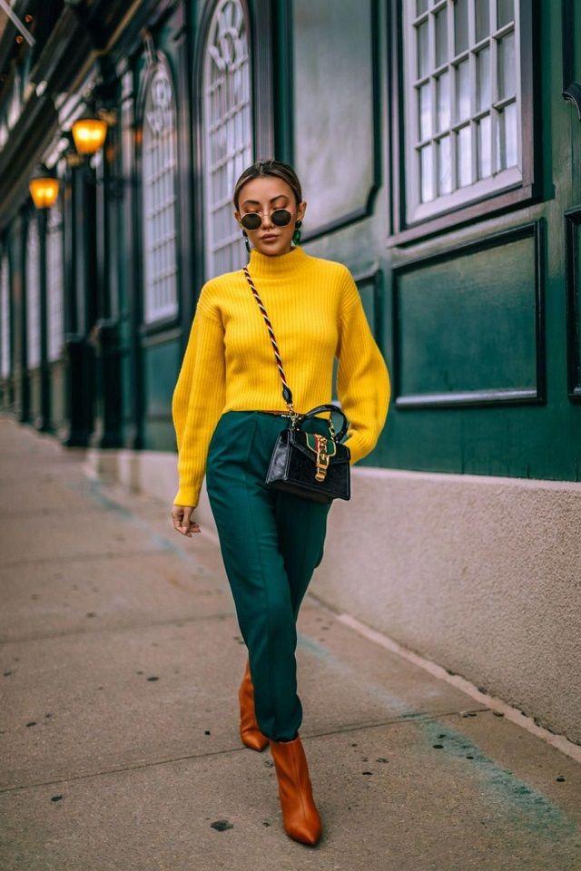 Combinar color verde con amarillo