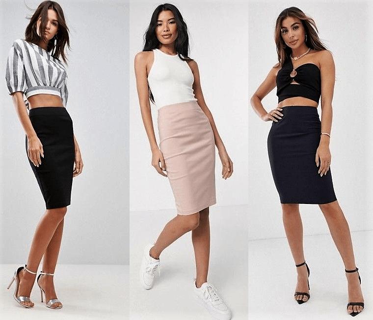Comprar online falda de tubo