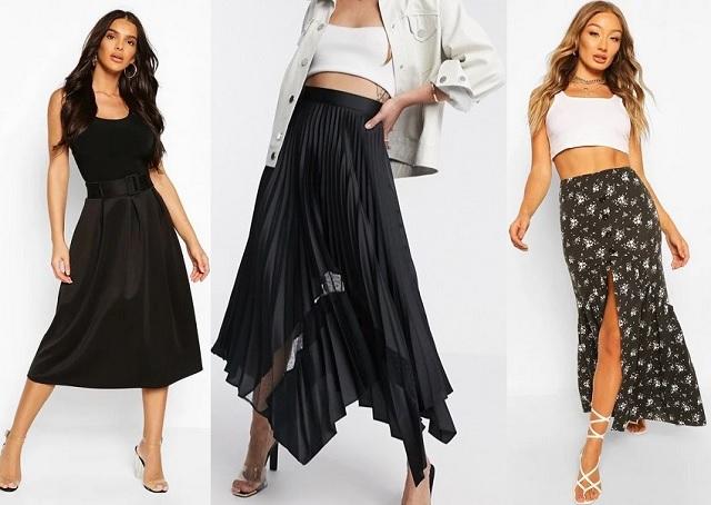 Comprar online falda negra de verano