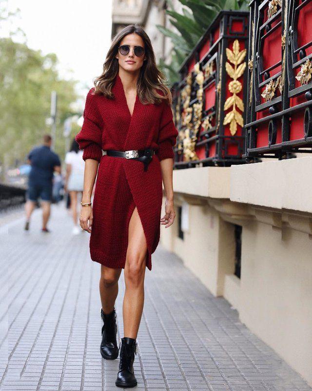 Cárdigan a modo de vestido