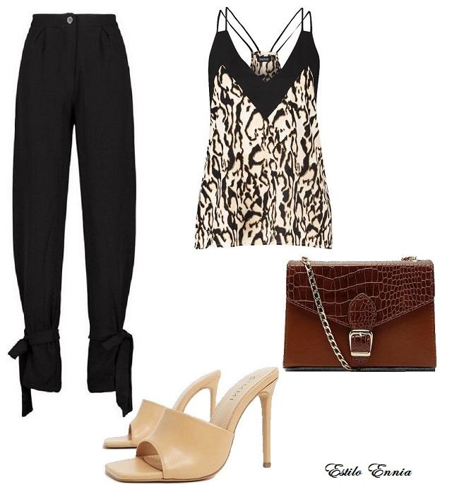 Outfit con estampado de leopardo. Moda 2020