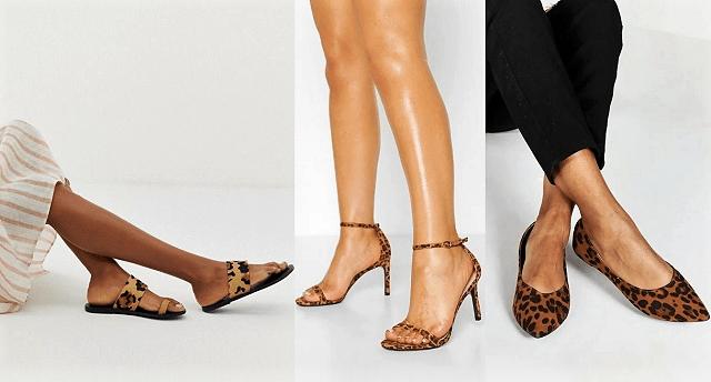 Comprar online sandalias con estampado de leopardo