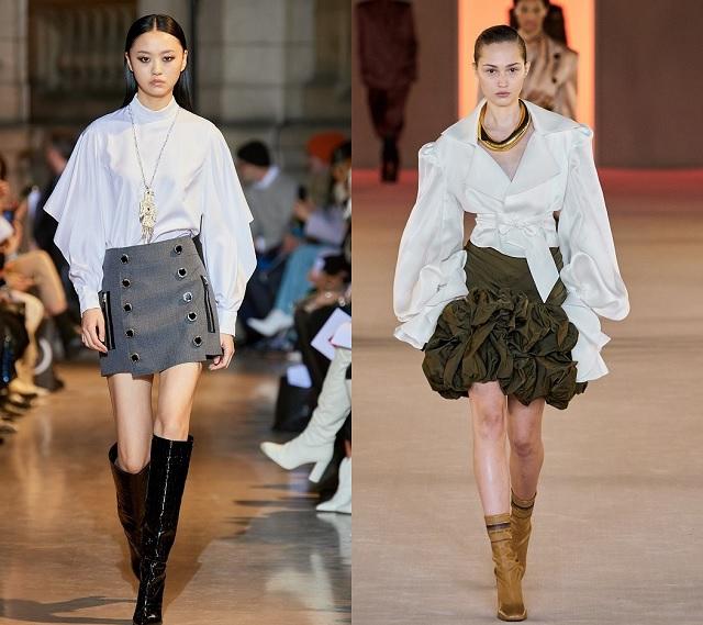 Diseños originales de camisa blanca en la pasarela Fall2020