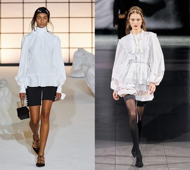Pasarelas Fall2020: camisas blancas