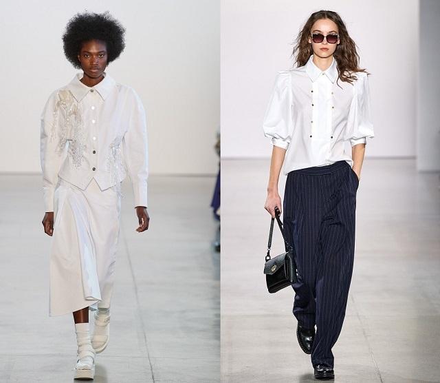 La camisa blanca en la pasarela fall2020