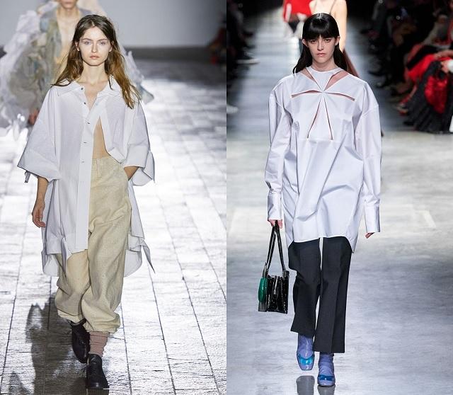 Pasarela Fall2020: camisas blancas oversize