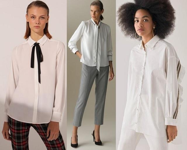 Comprar online camisa blanca con detalles en contraste