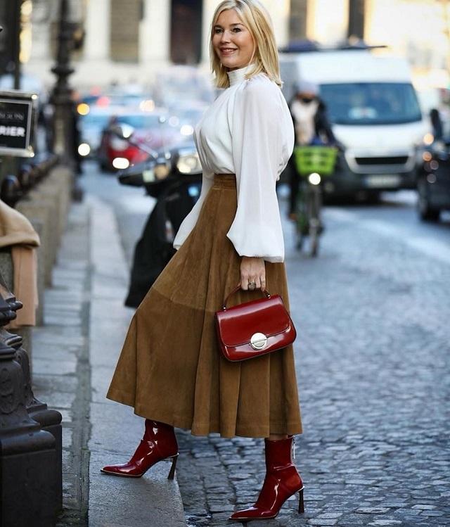 Blusas de estilo victoriano en el Street Style; ideas de look