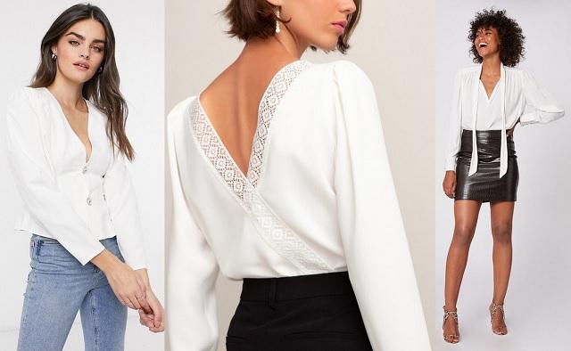 La camisa blanca con hombros marcados
