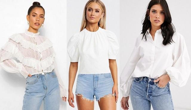 Comprar online camisas y blusas blancas con mangas abullonadas 2020-2021