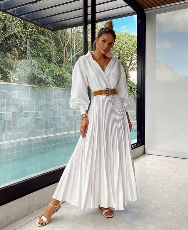 Ideas de look con camisa blanca. Street Style
