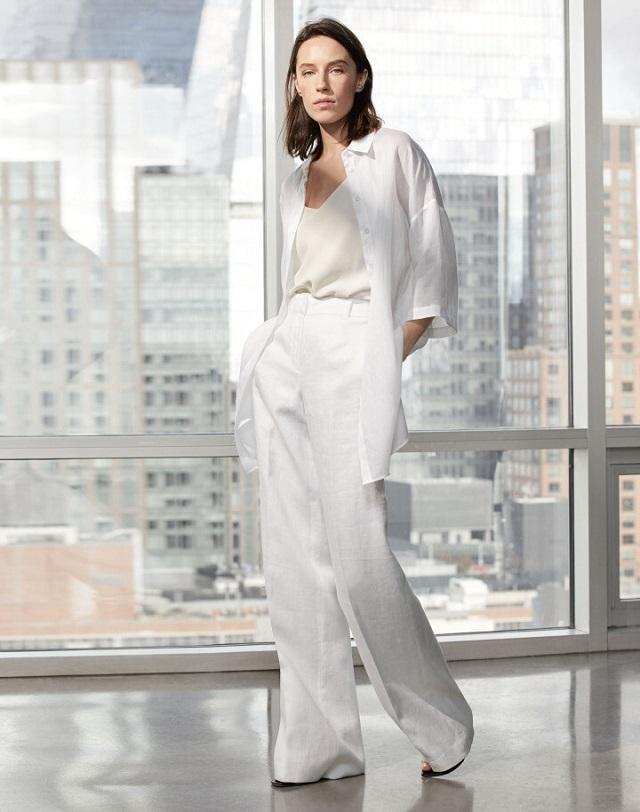 La camisa blanca en el street style; ideas de look