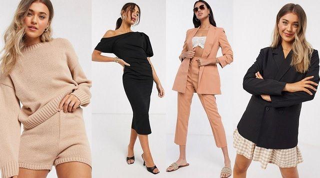 Comprar online americana negra, vestido negro y jersey en color beige