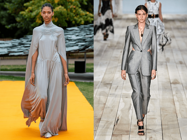 Color gris ceniza en la pasarela primavera-verano 2020