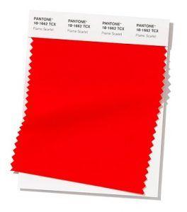 Color rojo primavera-verano 2020