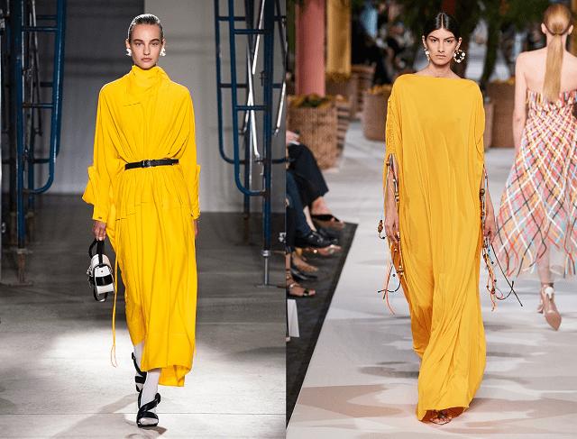 colores de moda primavera-verano 2020. Color azafrán
