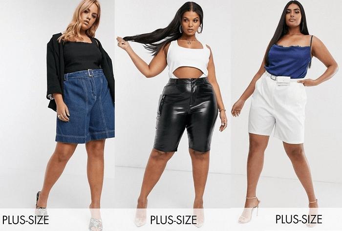 """Pantalones cortos Plus para figura """"manzana"""""""