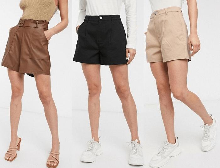 """Tipo de cuerpo """"manzana"""": Pantalones cortos"""