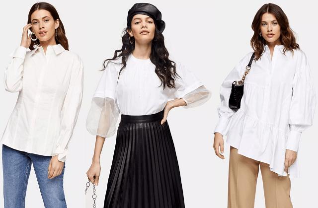 Camisas y blusas blancas primavera-verano 2020