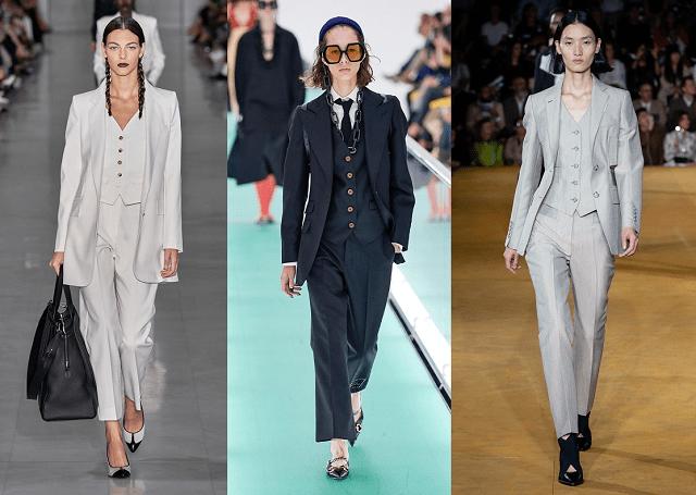 Moda primavera-verano 2020: traje tres piezas