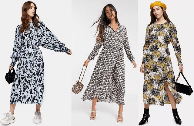 Vestidos estilo años 70 primavera-verano 2020
