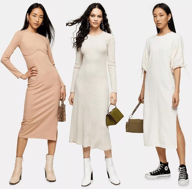 Vestidos estilo minimalista primavera-verano 2020