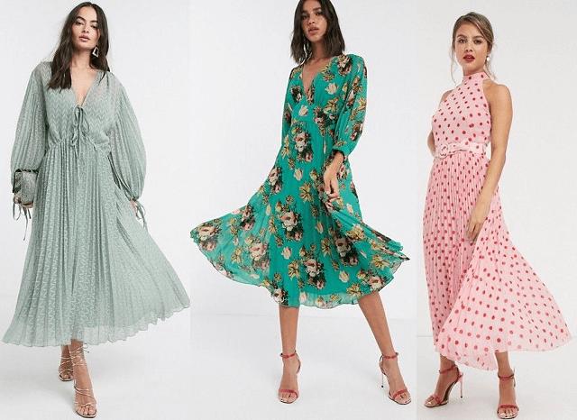 Vestidos plisados primavera-verano 2020