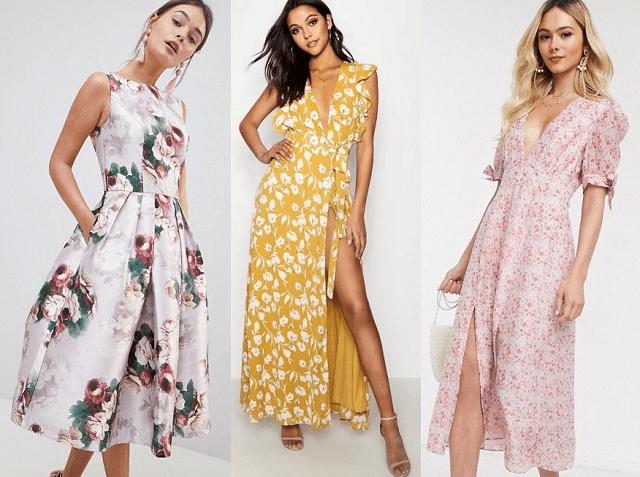 Vestidos con estampado floral primavera-verano 2020