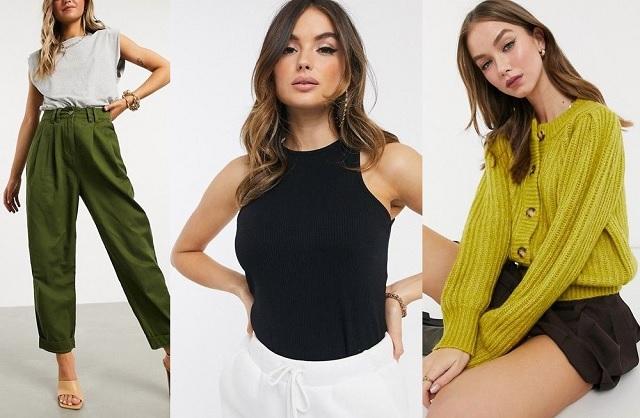 Comprar online cárdigan corto, pantalones capri y top sin mangas