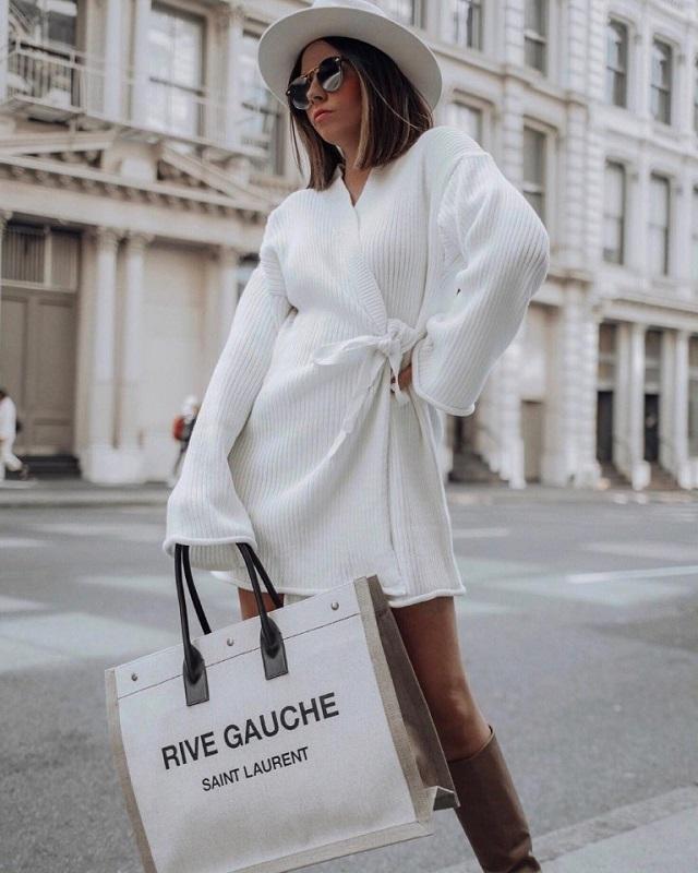 Cárdigan estilo vestido. Ideas de look