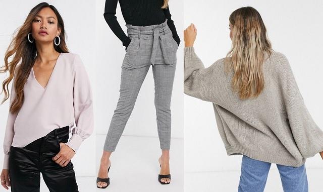 Comprar online cárdigan largo, pantalones ajustados y top en color rosa claro