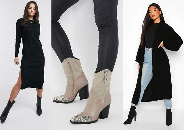 Comprar online cárdigan largo negro y vestido largo