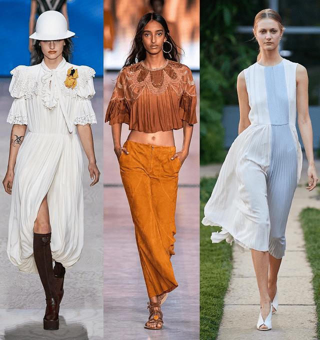 Detalles de moda primavera-verano 2020. Plisado