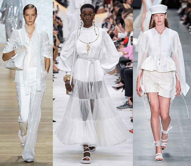 Look total blanco en la pasarela primavera-verano 2020