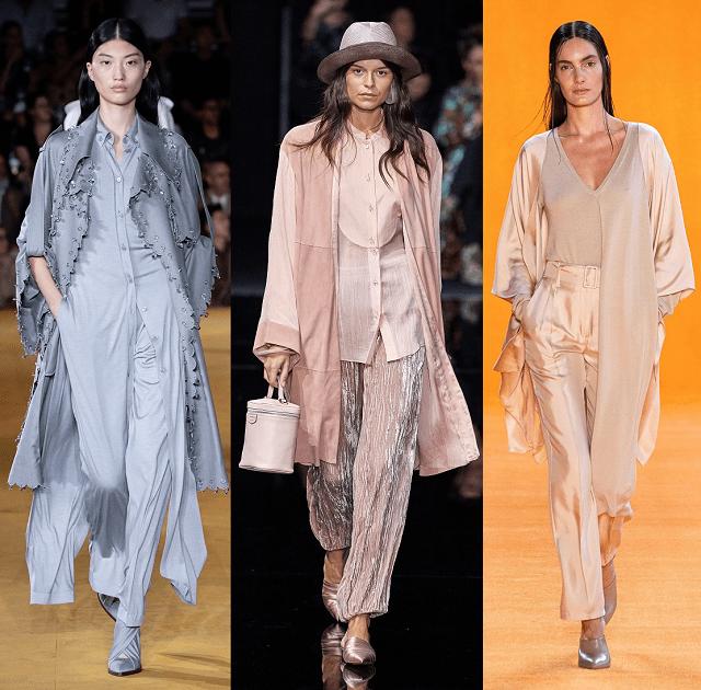 Total look en colores de moda en la pasarela primavera-verano 2020