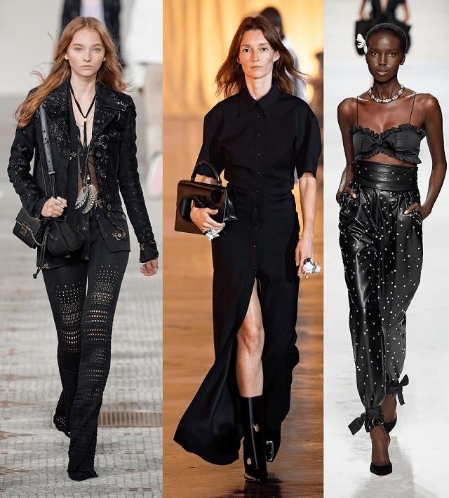 Look Total Black en la pasarela primavera-verano 2020