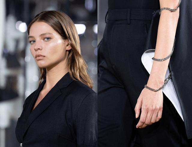 Negro blanco plateado y otros colores de moda primavera-verano 2020