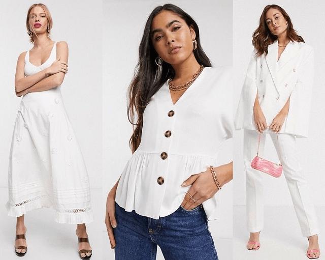Negro, blanco, plateado y otros colores de moda primavera-verano 2020