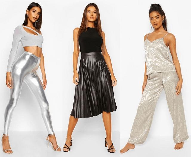 Negro, blanco, plateado y otros colores primavera-verano 2020