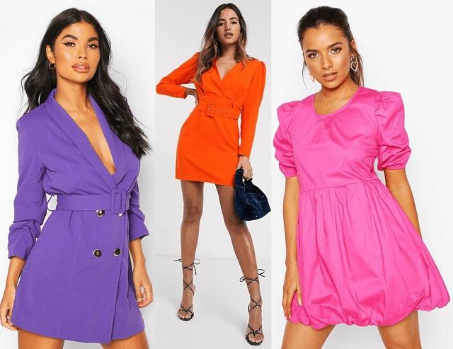Vestidos mini en colores neón primavera-verano 2020