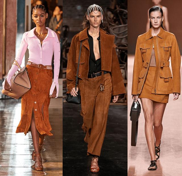 Tejidos de moda 2020: ante en la pasarela