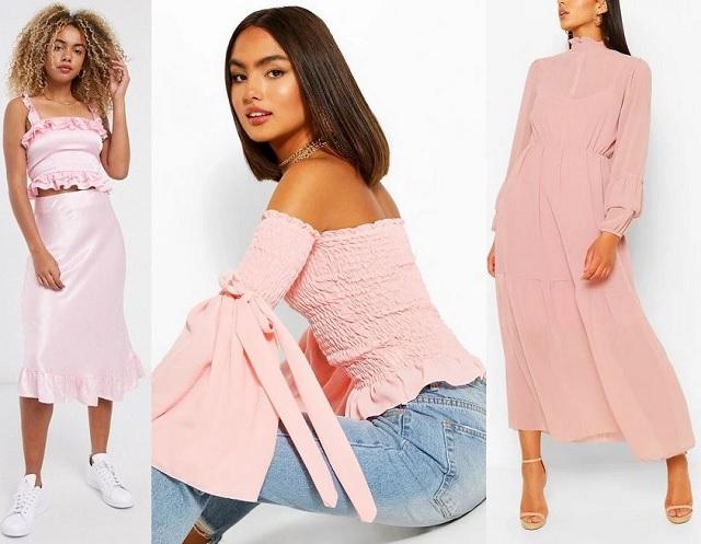 Comprar online prendas en color rosa claro