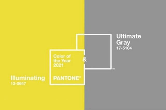 Color del año 2021: Gris Neutro (Ultimate Grey) y Amarillo brillante (Illuminating)