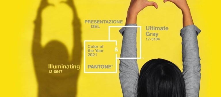 Color del año 2021: Amarillo brillante y Gris neutro