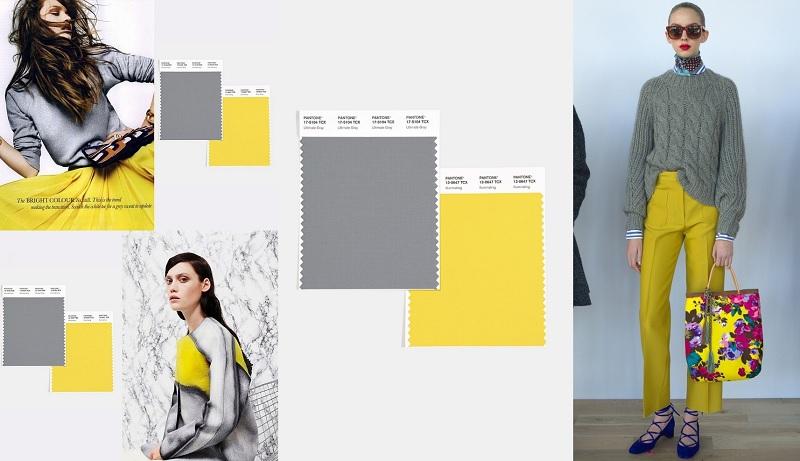 Color del año 2021 Pantone: Amarillo y Gris