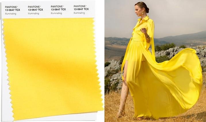 Color amarillo brillante (Illuminating) 2021