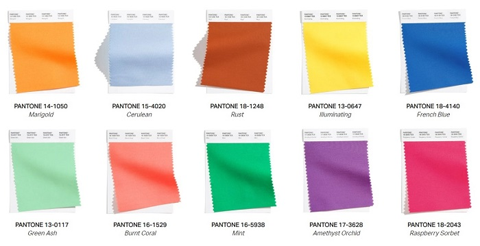 10 colores principales de moda para primavera-verano 2021