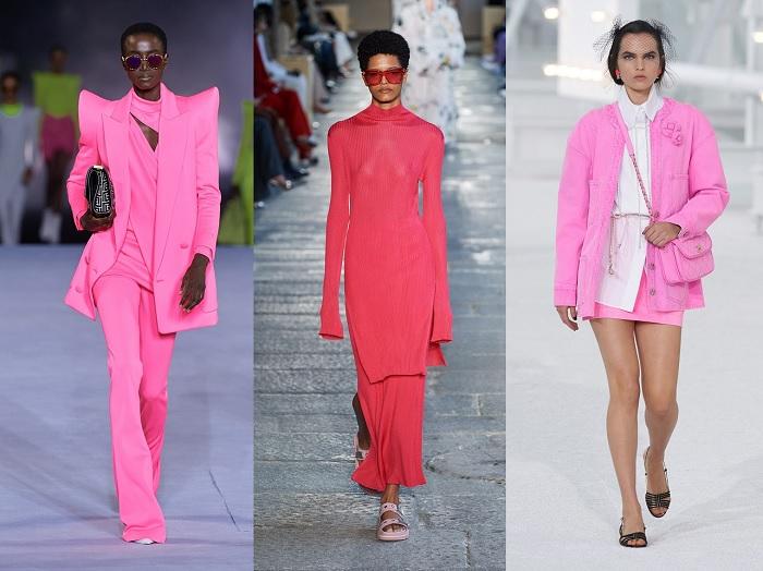 Color rosa en las pasarelas 2021