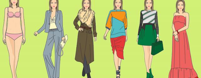Siluetas, proporciones y longitud en la ropa para tipo de cuerpo «Columna»